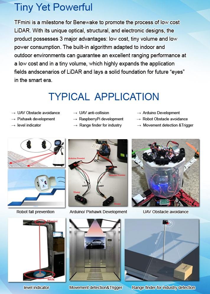 TF mini applications
