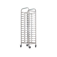 Stainless Steel Double-Line Tray Trolley