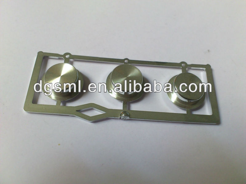 Plastic chrome plated button of game console parts
