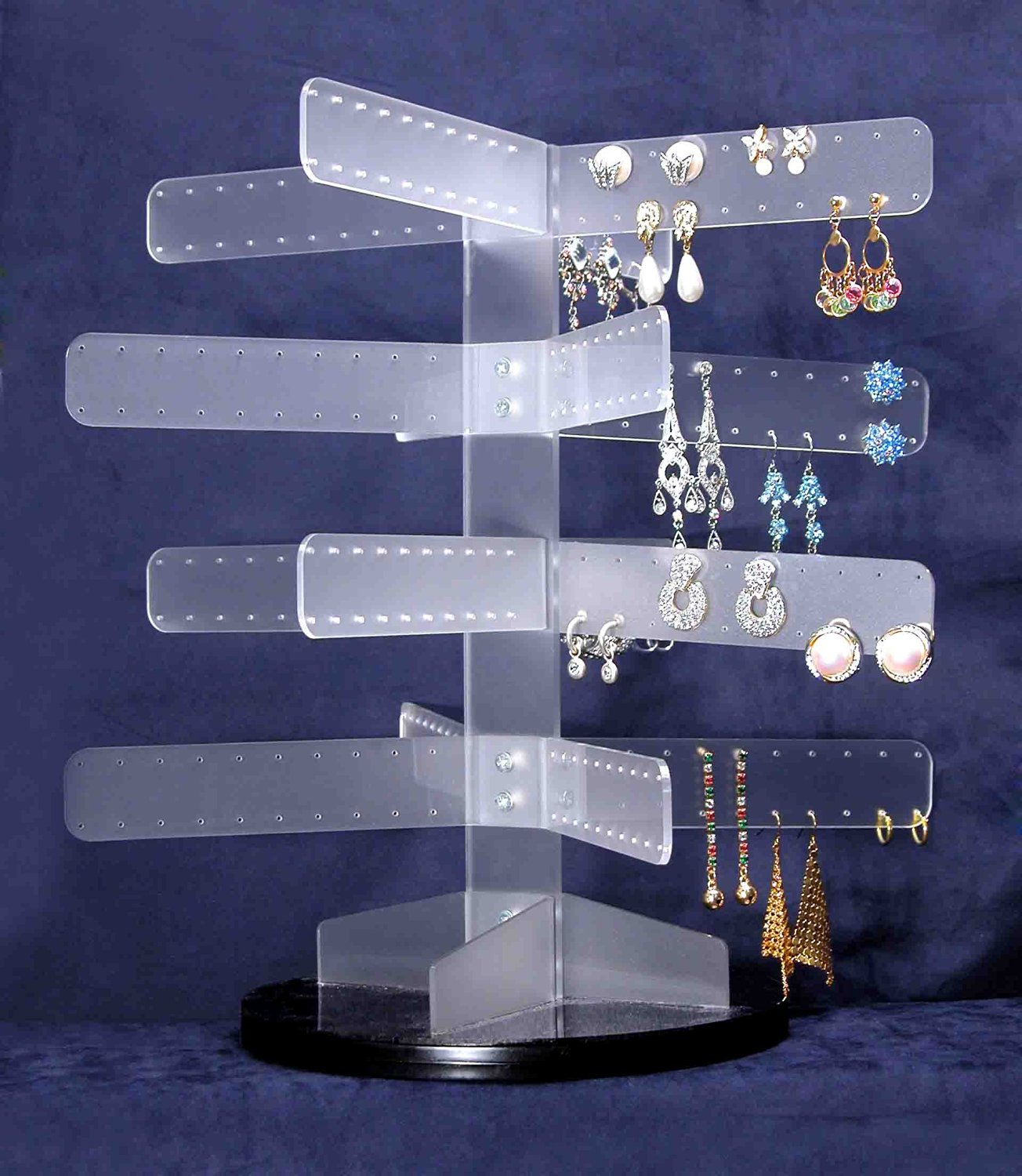 White Acrylic Tree Jewelry Tree up to 160 Pair Earring Display Stand