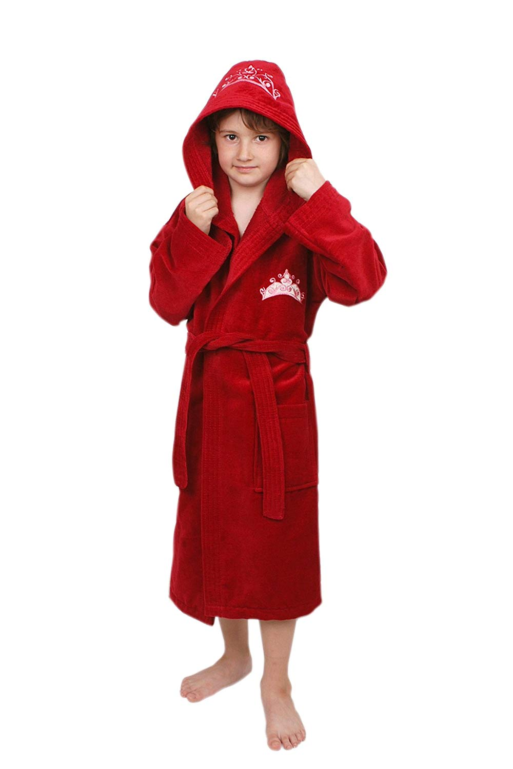 Get Quotations · Soft   Softly 100% Turkish Cotton Kids Bathrobe with  Embroidered 9eb5c5319