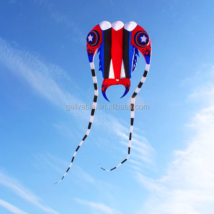 Chinese 2sqm nylon small  trilobite 3D kite