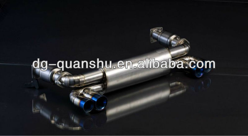 titanium muffler for porsche 996 twin turbo exhaust