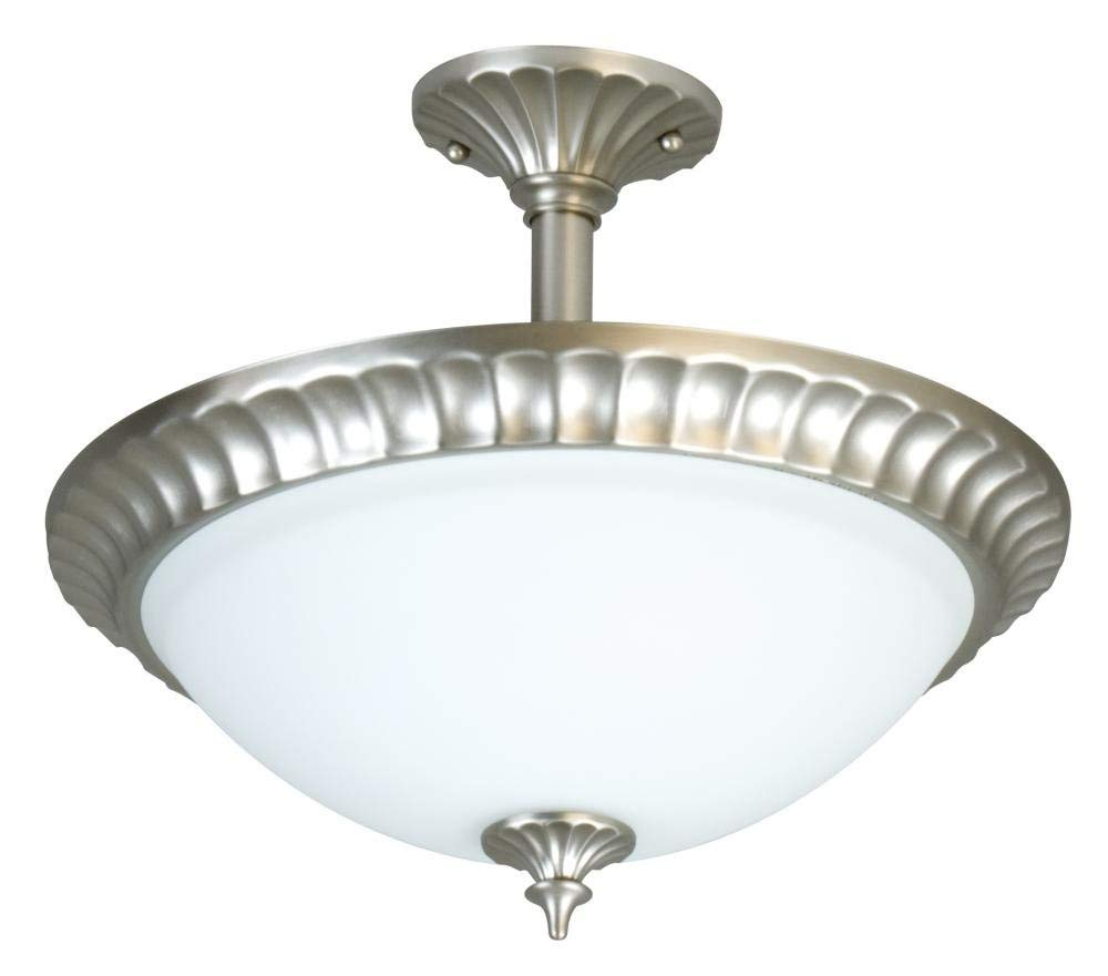 Craftmade X416-BN Bowl Semi-Flush Mts. with Frosted Glass Shades, Nickel