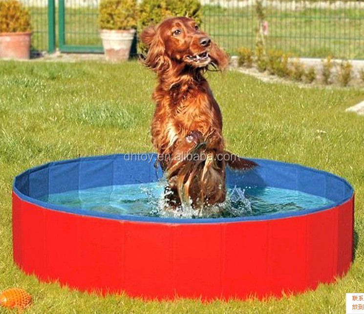 Inflatable folding pet pool