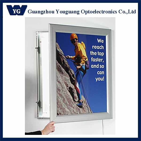 outdoor wall mount lockable led sign frame aluminum outdoor sign