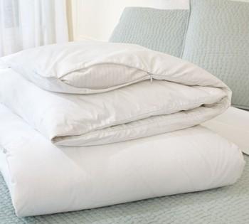 100 Cotton 233tc White Color Invisible Zipper Quilt Cover Duvet