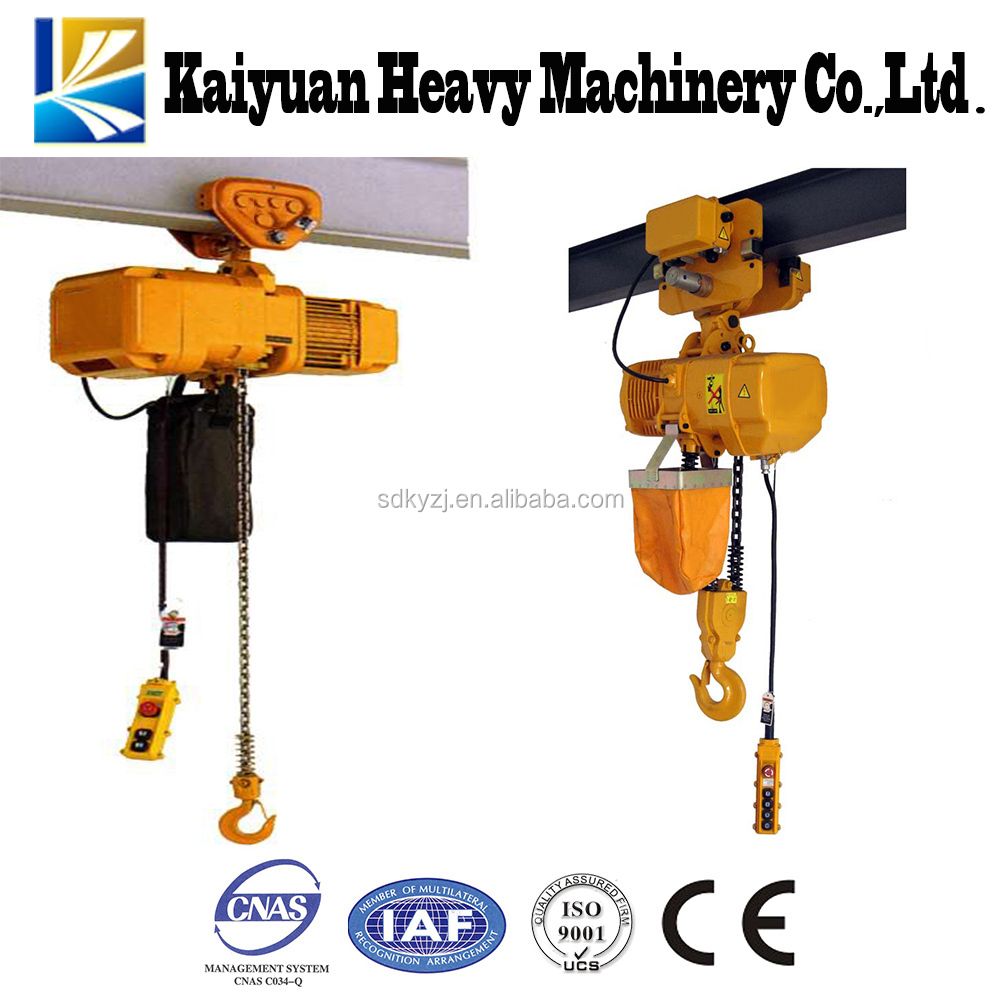 Durable feature operating safety high quality electric chain hoist for Korea