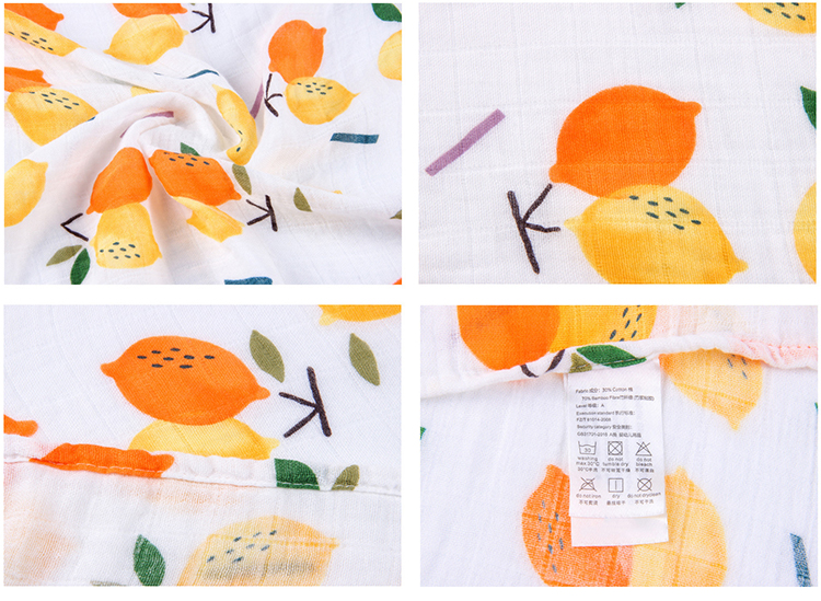 2019 Two Layers Eco-Friendly Baby Muslin Wrap Soft Bamboo Muslin Swaddle Blanket