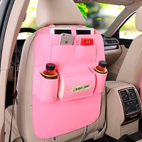 Felt auto tissue holder back seat car organizer with front pockets