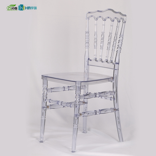 Clear Napoleon Plastic Transparent PC Wedding Napoleon Chair