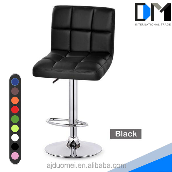adjustable counter swivel pub chair , leather high chair for bar