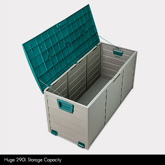 outdoor garden storage box, garden storage benches
