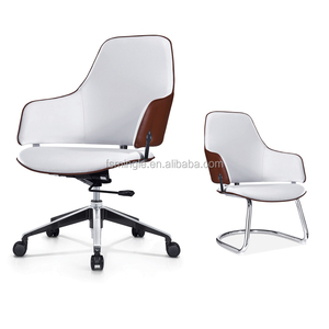 Luxury low back soft pad PU leather swivel leisure office chair