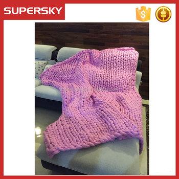 E-7 Super Chunky Knit Blanket Bulk Handmade Australia Merino Wool ...