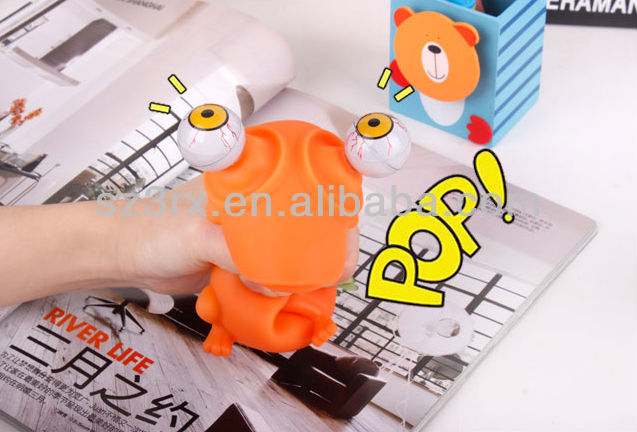 "pop eye toys with 2""Capsule toys plastic ball;hot sale pop eyes vinyl funny toy"