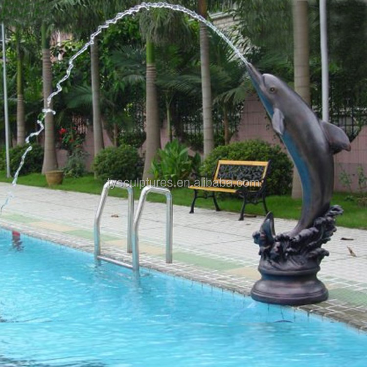 Hot Sale Factory Supplied Swimming Pool Decoration Stone Outdoor Dolphin Water Fountain Buy