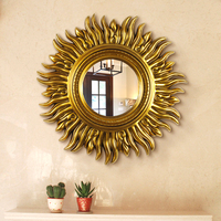 Design Decorative Sun Shaped Wall Mirror Fancy Wall Mirror for Home Deco