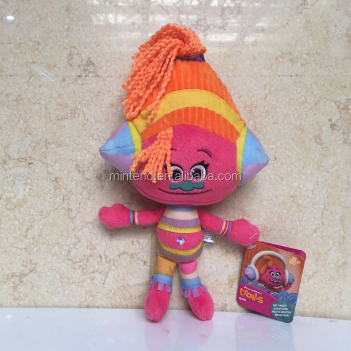 Wholesale stuffed Movie cartoon characters plush trolls toy for kid