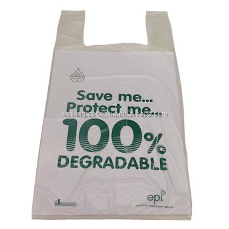 Eco-friendly and recycle folding shopping biodegradable plastic bag