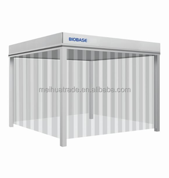 BIOBASE China Newest Microprocessor Control with FFU and PVC anti-static dustproof curtain Down Flow Clean Booth