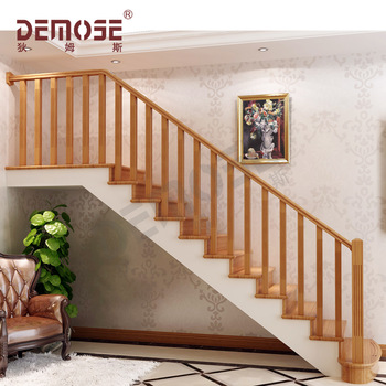 Indoor Wooden Hand Rail Stair Railings Design Price