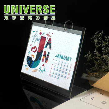 Universe Acrylic Digital Desk Calendar With Stand Customized Acrylic