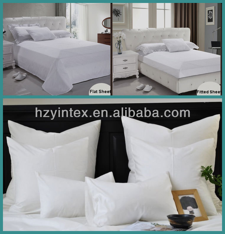 100% cotton 5 star hotel embroidery 60S bed set/linen/sheet/duvet cover, hotel design bedding set