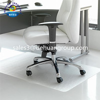 Clear pvc floor mat for office chairs wooden floor protector