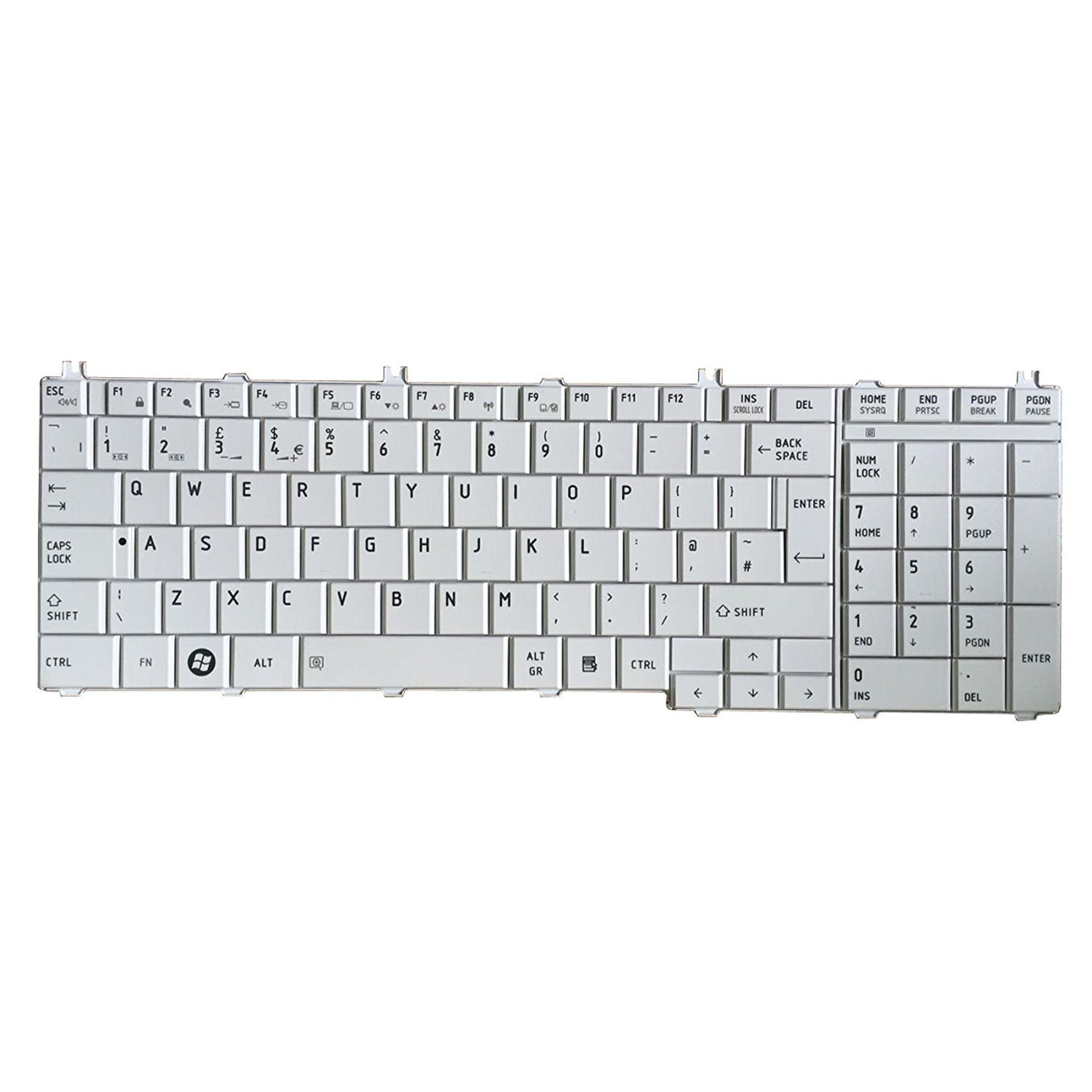Cheap Satellite Pro Keyboard Find Deals On Toshiba Satelite L850 L850d L855 L855d C850 C850d C855 C870 Get Quotations Yeechun White Uk Qwerty Layout For L650 L650d C655 C655d L670 L670d