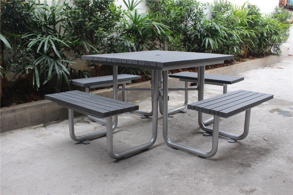 Stupendous Recycled Plastic Wood Steel Frame Picnic Table Bench Settings Buy Picnic Settings Picnic Table Set Wooden Picnic Table Product On Alibaba Com Evergreenethics Interior Chair Design Evergreenethicsorg