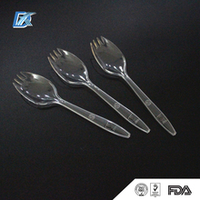 Factory Food Grade PS Color Customized Disposable Plastic Spoon And Fork Gift