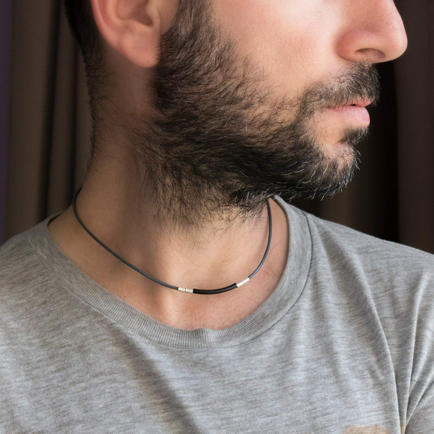 Men's Necklace - Men's Choker Necklace - Men's Leather Necklace - Men's Jewelry - Guys Jewelry - Guys Necklace - Necklaces For Men - Jewelry For Men