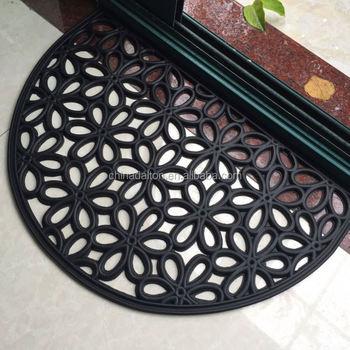 Semi Circle Half Round Rubber Outdoor Mat