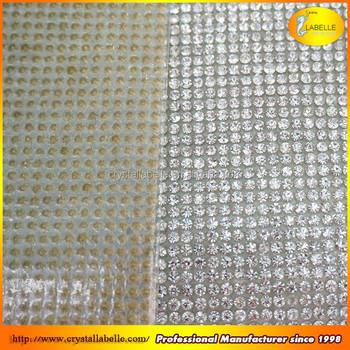 b5b3ab5c607c Round Crystal Mesh Fabric Rhinestone Diamante rhinestone Trim Wholesale