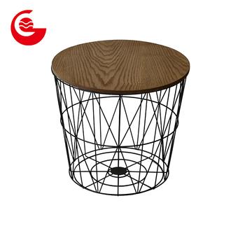 Wohnzimmer Möbel Holz Nacht Draht Runde Moderne Couchtisch Mit