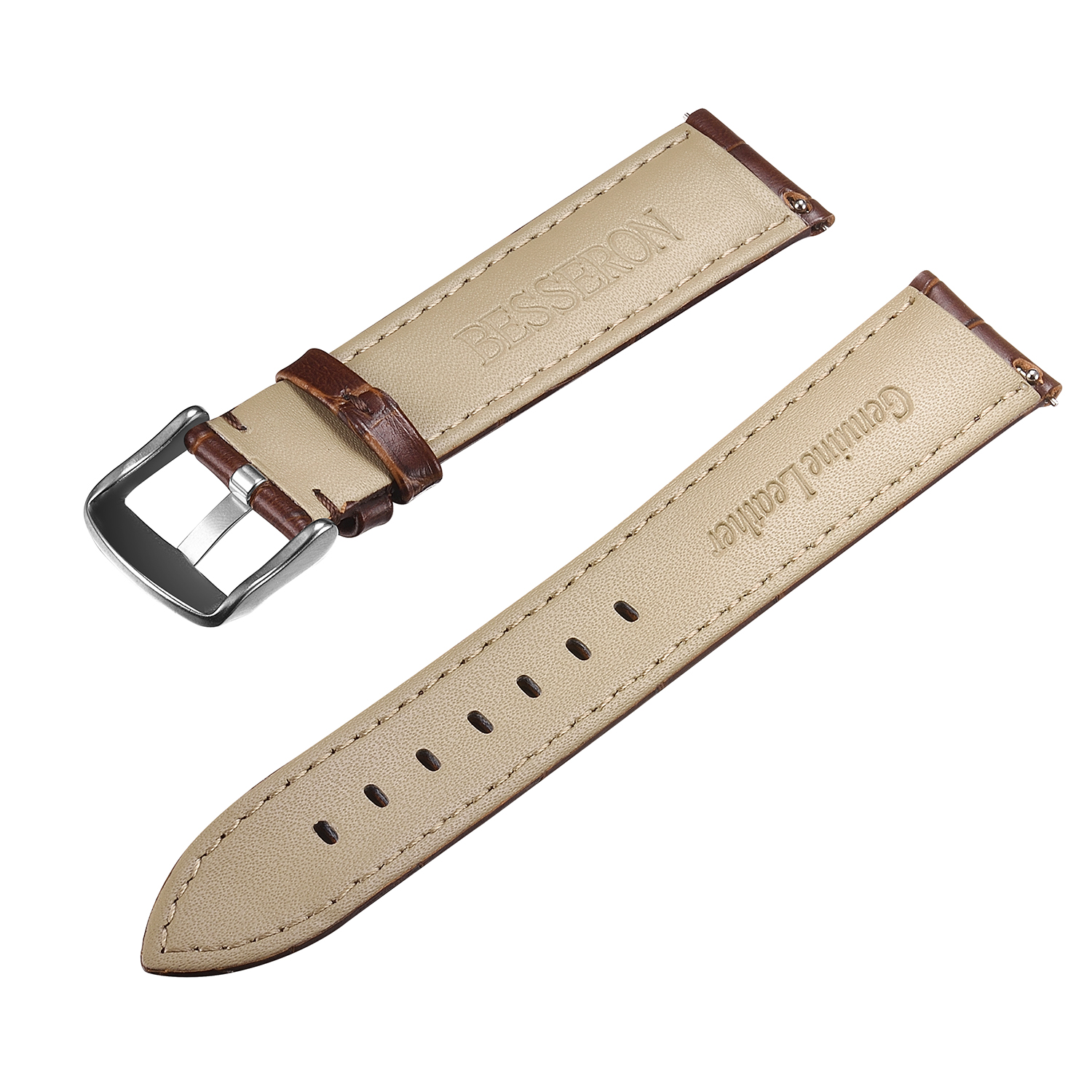 Multi color watch strap Quick Release interchangeable genuine thin leather watch band