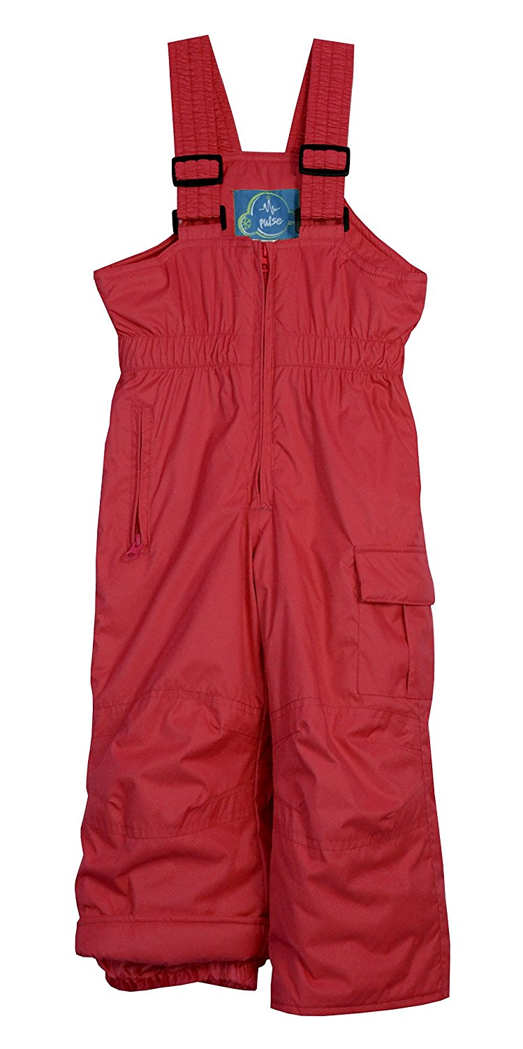 Pulse Little Girls Toddler Insulated Snow Bib Overalls