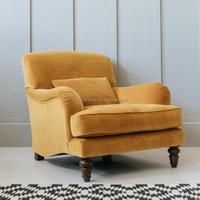 Modern Designer Furniture Accent Living Room Yellow Velvet Chairs