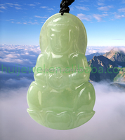 luxury high quality Myanmar jade buddha necklace natural jade jewelry