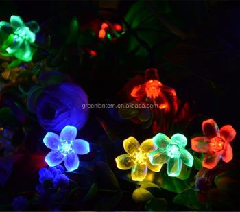 blossom flower solar string lights 8 modes multi color outdoor led fairy christmas lighting - Flower Christmas Lights