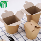 custom logo printed paper take away food box and cup