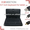 9.7 inch micro usb keyboard for android tablet pc