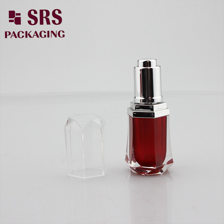 Skin care serum container 8ml 10ml acrylic plastic dropper bottle