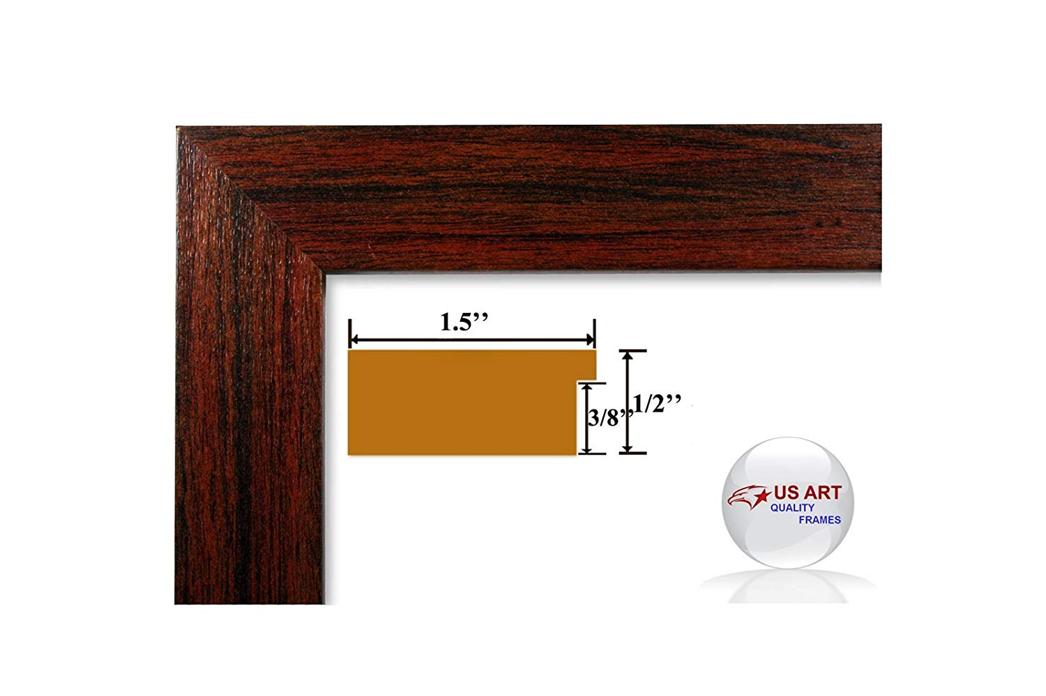 US Art 13x20 Custom Made Thin Black Picture Poster Frame Solid Wood .75 inch Wide Moulding