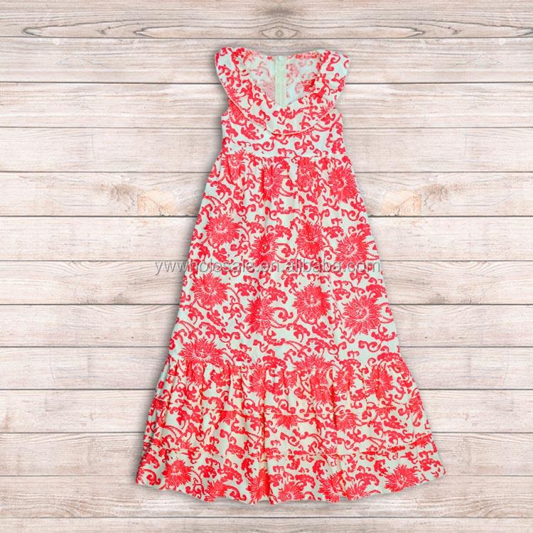 wholesale smocked dresses For Toddler Hot Candy Damask long Baby Girl Wedding Dress