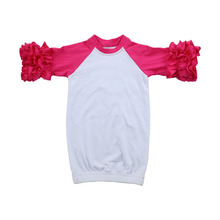 2019 Boutique katoen kids icing ruche kleding winter <span class=keywords><strong>peuter</strong></span> meisje kleding raglan baby <span class=keywords><strong>romper</strong></span>