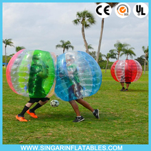 Amazing new design style colorful dots string tie anchors loco ball bubble soccer bubble football bumper ball good price
