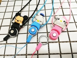 Mobile phone lanyard necklace chain cellphone security strap two-in-one buckle accessory