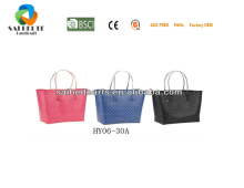 Wholesale Handmade Colourful PP Strap Woven Beach Tote Bag